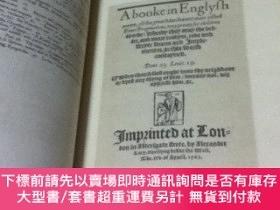 二手書博民逛書店英文)1563年刊の英語學習書のファクシミリ復刻罕見A booke in Englysh metre, of th