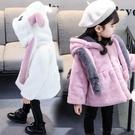 女寶寶秋冬裝韓版洋氣公主棉衣2女童毛毛衣加厚外套4秋季1-5歲半3