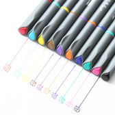 ✭米菈生活館✭【P224】0.38極細10彩色筆套盒 學校 設計 辦公 手做 文具 書寫 畫畫 簽字筆