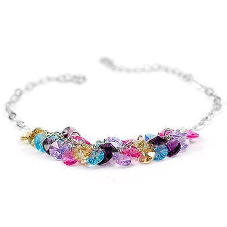 五彩繽紛彩虹雨水晶手鏈