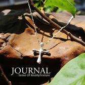 925純銀 簡約設計十字架鎖骨鍊 短項鍊_質物日誌Journal