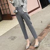愛佐尼西裝褲九分褲修身小腳褲正裝職業直筒煙管褲休閒吸煙褲女秋