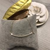 HOSOME 18K金/精選日本Akoya 4A珍珠排串項鍊 造型後扣