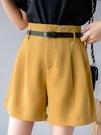 西裝短褲西裝短褲女高腰垂感夏季顯瘦韓版寬鬆百搭休閒外穿a字雪紡闊腿褲 JUST M