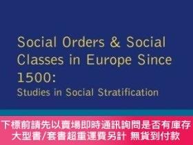 二手書博民逛書店Social罕見Orders And Social Classes In Europe Since 1500Y