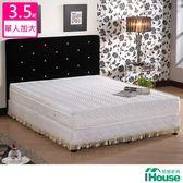 IHouse 卡羅 日式透氣三線獨立筒床墊-單大3.5x6.2尺