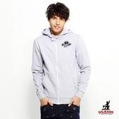 SISJEANS-修身麻灰色全棉連帽外套【1617300131】