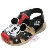 ♥小花花日本精品♥迪士尼紅色米奇大頭造型前包式涼鞋輕便鞋外出方便暑假出遊必備紅色款118140