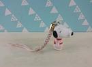 【震撼精品百貨】史奴比Peanuts Snoopy ~手機吊飾_貝兒_粉衣