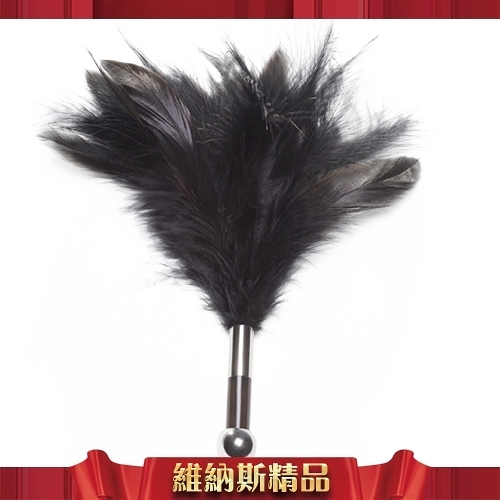 總代理公司貨保固兩年 瑞典LELO-TANTRA FEATHER TEASER 羽毛挑逗棒-黑