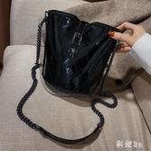 今年流行的菱格水桶包春夏百搭ins小包包女包新款2020單肩斜挎包 FX4367 【科炫3c】