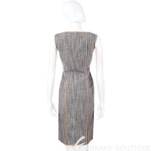 ALBERTA FERRETTI 銀色珠飾背心洋裝 0510759-62