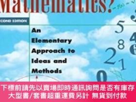 二手書博民逛書店What罕見Is Mathematics?:An Elementary Approach to Ideas and