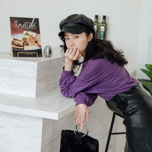 現貨-MIUSTAR 袖縮口素面棉質上衣(共7色)【NH2089】