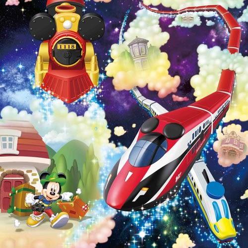 【震撼精品百貨】Micky Mouse_米奇/米妮 ~Disney x PLARAIL 鐵道入門組 米奇