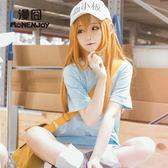 cosplay空氣劉海假發亞麻色工作細胞cos 血小板7月【步行者戶外生活館】