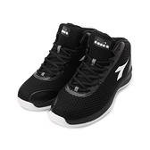 DIADORA 2E 飛織高筒籃球鞋 黑 DA9AMB7210 男鞋 鞋全家福