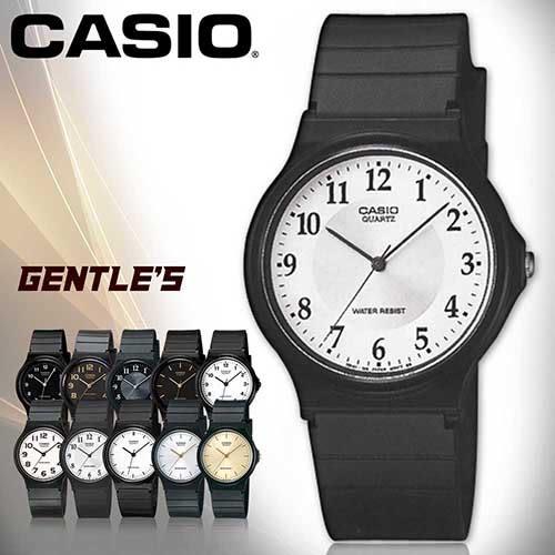 CASIO手錶專賣店 卡西歐 MQ-24-7B3 男錶 中性錶 壓克力鏡面 學生必備指針數字 膠質錶帶