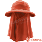 Wildland 荒野 W1035-78粉橘色 中性抗UV調節式遮陽帽 防曬工作帽/登山休閒帽/漁夫帽/大圓遮陽帽*
