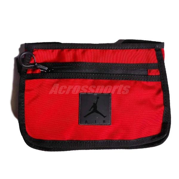Nike 腰包 Jordan Collaborator Bag 紅 黑 男女款 斜背包 運動休閒 【ACS】 9A0331-R78