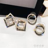 幾何珍珠女閒約小巧新款潮網紅高級感耳環小耳垂適合的耳釘 歐韓流行館