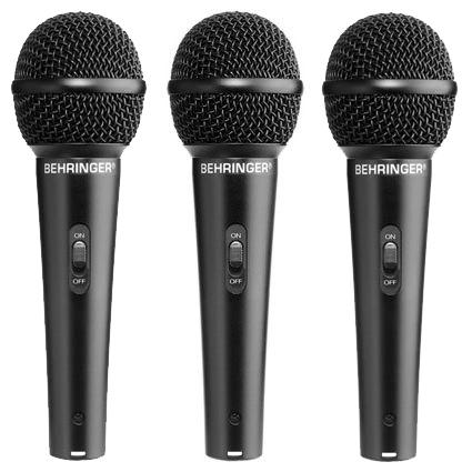 ★集樂城樂器★BEHRINGER ULTRAVOICE XM1800S耳朵牌麥克風(三支套裝組含麥線)!大特價出清!
