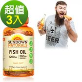《Sundown日落恩賜》精萃深海魚油1200mg(100粒/瓶)3入組