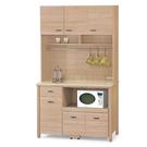 【采桔家居】巴吉倫 時尚3.9尺木紋石面餐櫃/收納櫃組合(二色可選+上+下座)