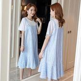 米蘭 孕婦夏裝洋裝2019新款韓版時尚仙女超仙短袖孕婦裙子女夏天潮媽