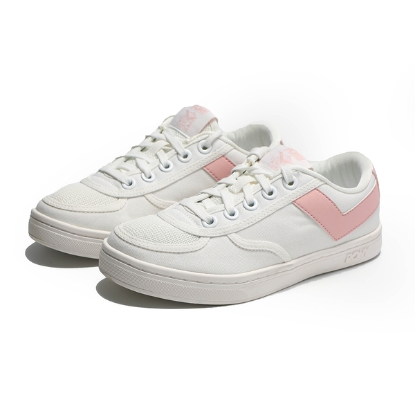 PONY 休閒鞋 SLAM DUNK 白粉 帆布 板鞋 女 (布魯克林) 91W1SL05PK