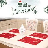 【BlueCat】聖誕節紅白金線A4棉質桌墊 隔熱墊