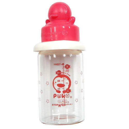 【奇買親子購物網】PUKU 晶鑽玻璃奶瓶120ML(藍/粉)《新品到》