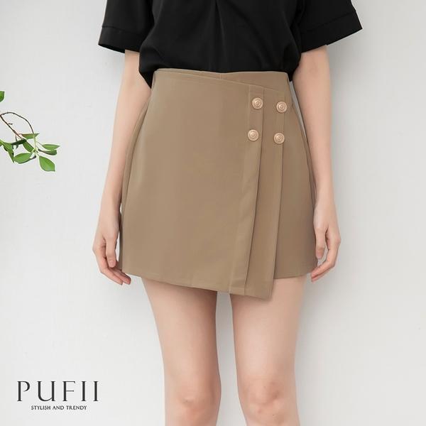 PUFII-褲裙 不對稱下擺西裝短裙褲裙- 0422 現+預 春【CP20224】