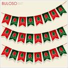 《不囉唆》毛氈布裝飾吊旗-鏤空樹 雪人/聖誕/禮物/擺飾(不挑色/款)【A425914】