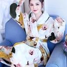 睡袍女秋冬睡衣加厚法蘭絨家居服浴衣長袖韓版和服浴袍珊瑚絨晨袍