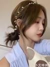 復古法式樹葉珍珠發帶項錬兩用款頸錬外出百搭綁帶發箍網紅發飾女 小艾新品