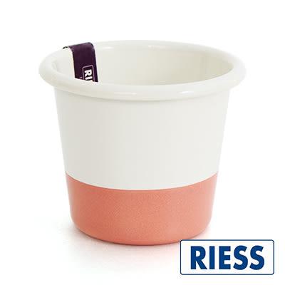 琺瑯烤杯 Riess 奧地利手工拼色琺瑯布蕾烤杯 蜜桃奶油 點心烤盤 里和居家 Riho