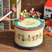兒童樂器樂器鼓兒童小鼓打鼓玩具鼓打擊樂器寶寶鼓嬰兒卡通地鼓 伊鞋本鋪