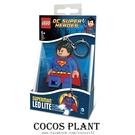 樂高鑰匙圈 DC英雄 超人 人偶造型LED 鑰匙圈鎖圈 盒裝 COCOS LG320