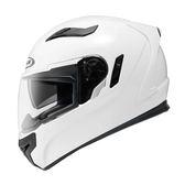 【東門城】ZEUS ZS813 素色(白) 全罩式安全帽 雙鏡片