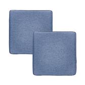 (組)新素色記憶棉坐墊40x40x4cm 靛藍色2入