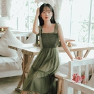 網紗裙 2020春夏裝新款裙法式初戀很仙森系吊帶洋裝女小個子中長款