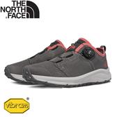 【The North Face 女 可調式鞋帶休閒鞋《麻灰/桃粉》】3RDT/運動鞋/抓地耐磨/戶外鞋/懶人鞋