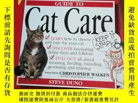 二手書博民逛書店Kiss罕見Guide to Cat Care (Keep it