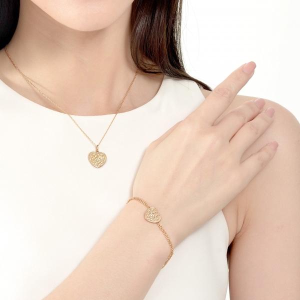 點睛品 V&A bless系列 18KR玫瑰金鑽石項鍊