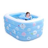 游泳池充氣 嬰兒游泳池 寶寶家用水池 120長-95寬-72高cm igo薇薇家飾