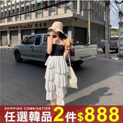 任選2件888半身裙韓版簡約蛋糕波點雪紡半身裙【08G-I0433】