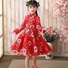 秋冬新款女童超仙漢服改良中國風旗袍女孩古裝唐裝洋氣連衣裙 新年禮物