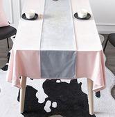 簡約北歐桌旗 絲絨印金繡金ins桌布現代茶幾桌布桌旗套 時尚潮流