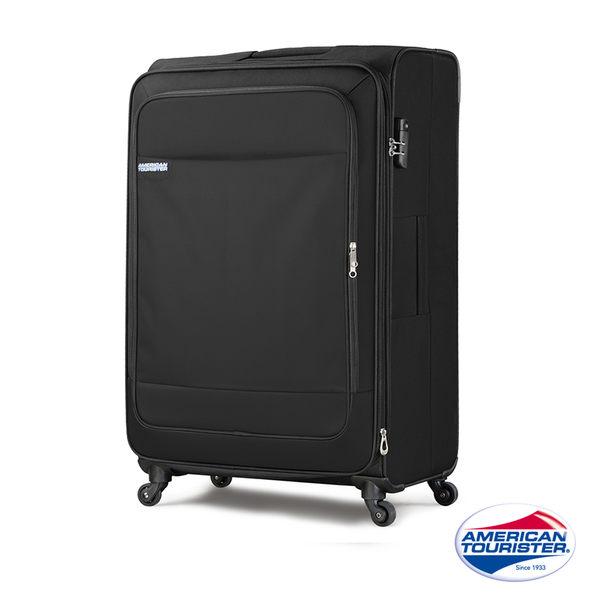 AT美國旅行者 28吋Niue II 輕盈可擴充布面行李箱(商務黑)